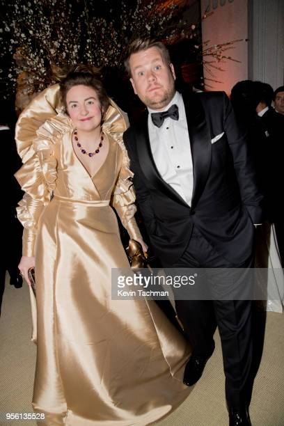 Lena Dunham and James Corden attend the Heavenly Bodies: Fashion & The Catholic Imagination Costume Institute Gala at The Metropolitan Museum of Art...