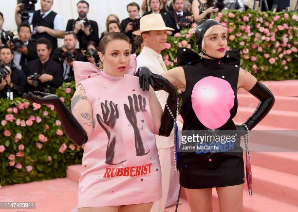 Lena Dunham and Jemima Kirke attend The 2019 Met Gala Celebrating Camp: Notes on Fashion at Metropolitan Museum of Art on May 06, 2019 in New York...