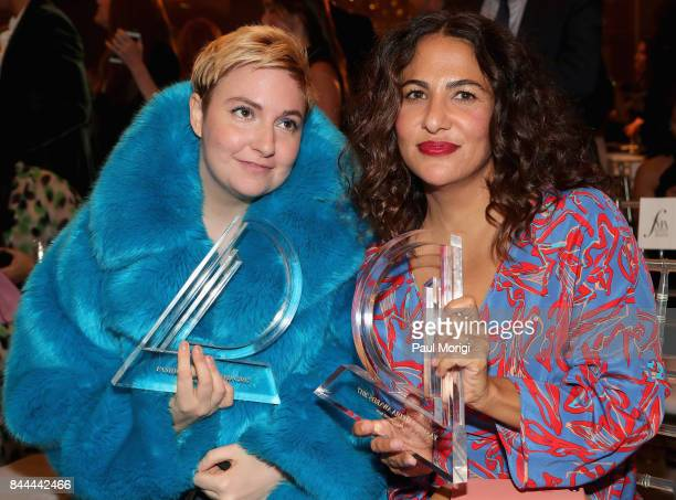 Lena Dunham and Jenni Konner attend the Daily Front Row's Fashion Media Awards at Four Seasons Hotel New York Downtown on September 8 2017 in New...