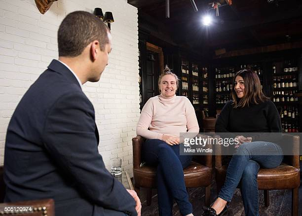 Lena Dunham and Jenni Konner sit down with LinkedIn Executive Editor Dan Roth on December 12 2015 in Los Angeles California