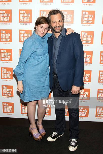 Lena Dunham and Judd Apatow attend the 2015 Film Society of Lincoln Center Summer Talks with Judd Apatow and Lena Dunham at Walter Reade Theater on...