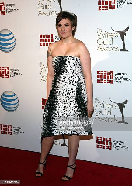 Lena Dunham attends 65th Annual Writers Guild East Coast Awards at B.B. King Blues Club & Grill on February 17, 2013 in New York City.