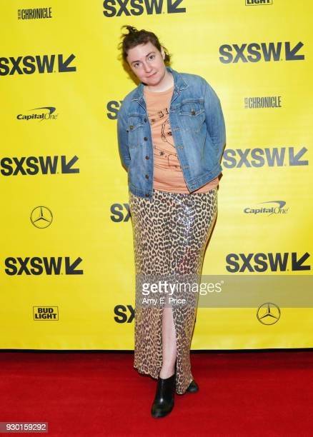 Lena Dunham attends Authenticity and Media in 2018 during SXSW at Austin Convention Center on March 10 2018 in Austin Texas