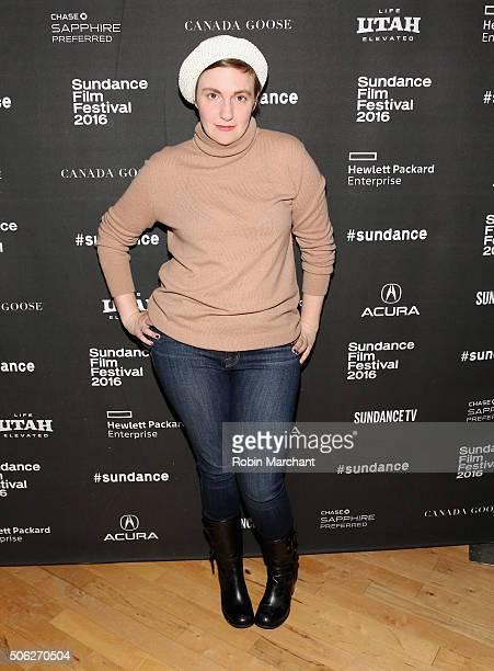 Lena Dunham attends Cinema Cafe at Filmmaker Lodge on January 22 2016 in Park City Utah