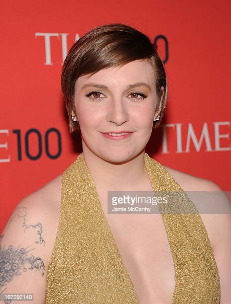 Lena Dunham attends the 2013 Time 100 Gala at Frederick P Rose Hall Jazz at Lincoln Center on April 23 2013 in New York City