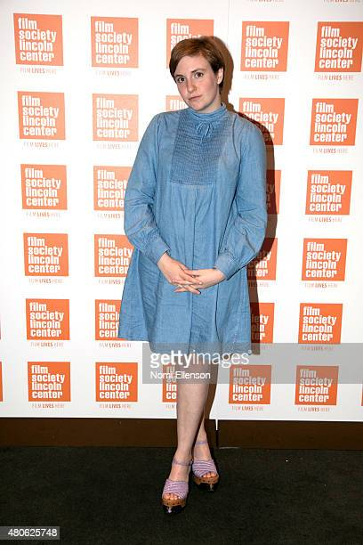 Lena Dunham attends the 2015 Film Society of Lincoln Center Summer Talks with Judd Apatow and Lena Dunham at Elinor Bunin Munroe Film Center on July...