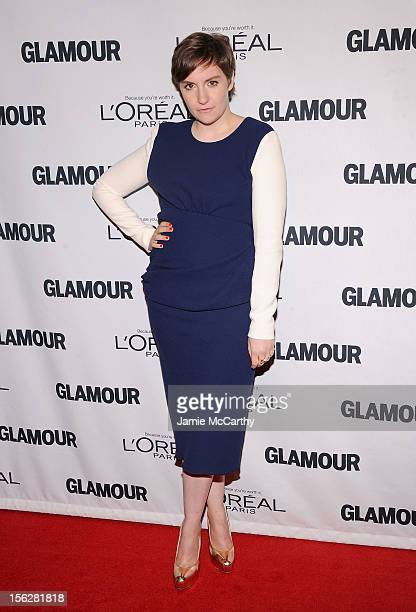 Lena Dunham attends the 22nd annual Glamour Women of the Year Awards at Carnegie Hall on November 12 2012 in New York City