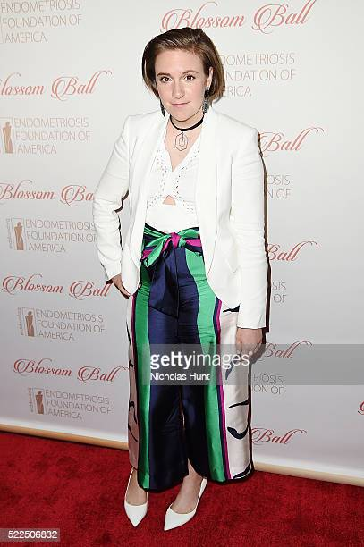 Lena Dunham attends the 8th Annual Blossom Ball at Pier Sixty at Chelsea Piers on April 19 2016 in New York City