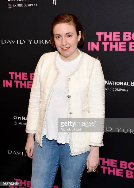 """Lena Dunham attends the """"Boys In The Band"""" 50th Anniversary Celebration at Booth Theatre on May 30, 2018 in New York City."""