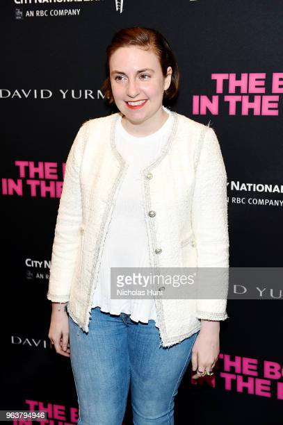 Lena Dunham attends the Boys In The Band 50th Anniversary Celebration at Booth Theatre on May 30 2018 in New York City