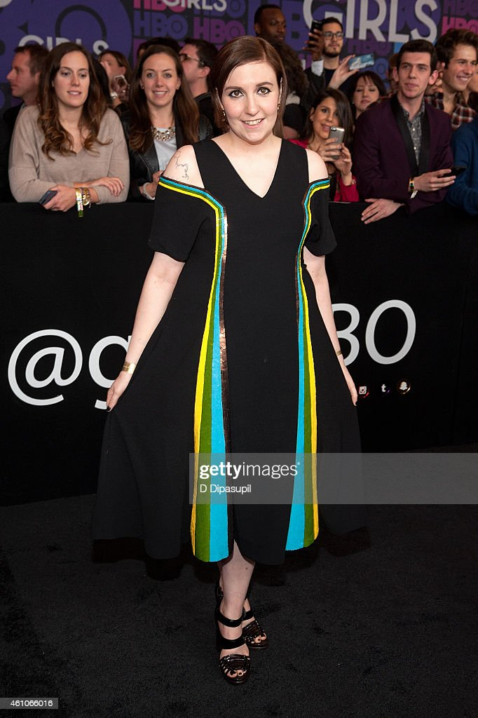 Lena Dunham attends the 'Girls' Season Four Premiere at the American Museum of Natural History on January 5, 2015 in New York City.