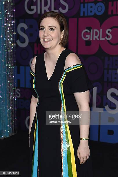 Lena Dunham attends the Girls season four series premiere at American Museum of Natural History on January 5 2015 in New York City