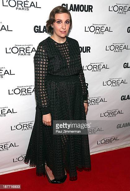 Lena Dunham attends the Glamour Magazine 23rd annual Women Of The Year gala on November 11 2013 in New York United States