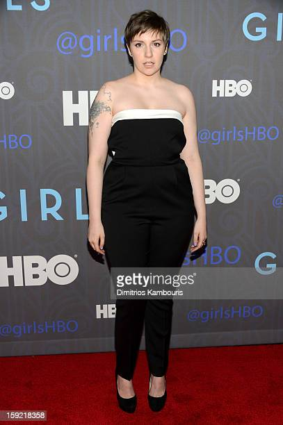 Lena Dunham attends the HBO premiere of 'Girls' Season 2 at the NYU Skirball Center on January 9 2013 in New York City