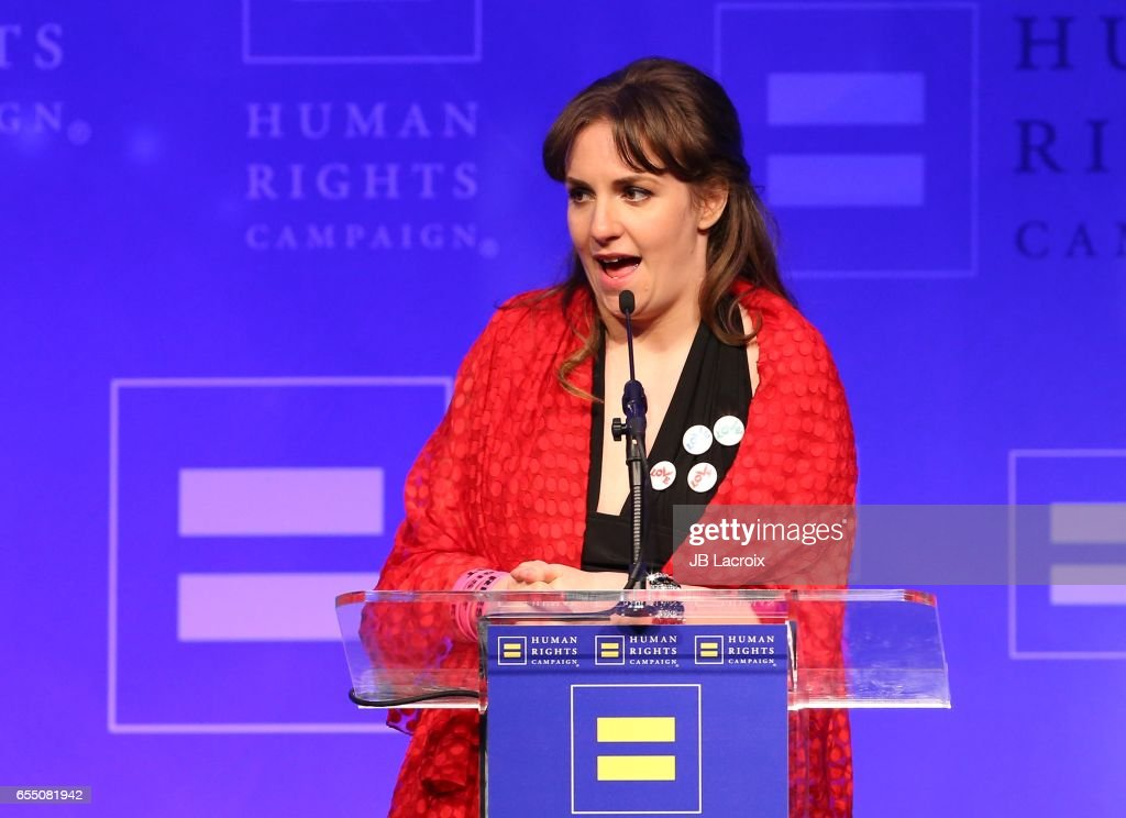 Lena Dunham attends the Human Rights Campaign's 2017 on March 18, 2017 in Los Angeles, California.