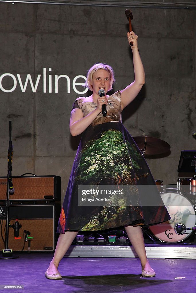 Lena Dunham attends the Lowline Anti-Gala Benefit Dinner at Skylight Modern on October 8, 2014 in New York City.
