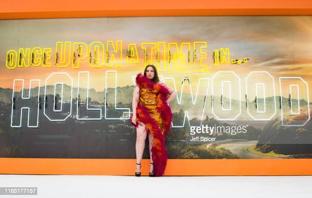 """Lena Dunham attends the """"Once Upon a Time... In Hollywood"""" UK Premiere at Odeon Luxe Leicester Square on July 30, 2019 in London, England."""