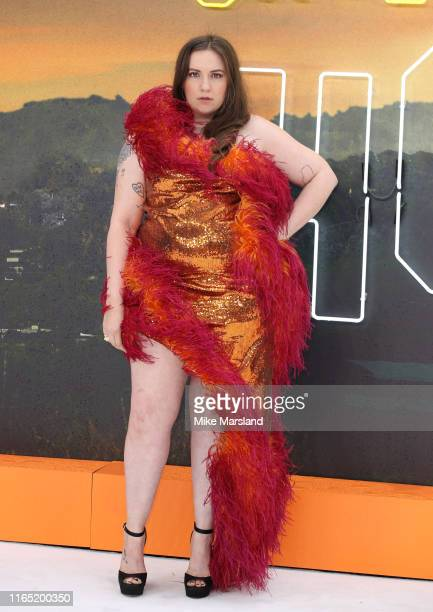 """Lena Dunham attends the """"Once Upon A Time In Hollywood"""" UK Premiere at Odeon Luxe Leicester Square on July 30, 2019 in London, England."""