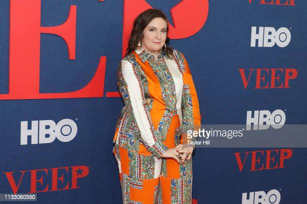 """Lena Dunham attends the premiere of the final season of """"Veep"""" at Alice Tully Hall on March 26, 2019 in New York City."""