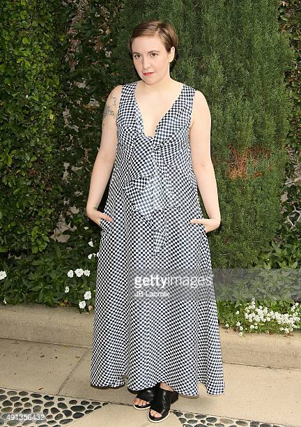 Lena Dunham attends the Rape Foundation's Annual Brunch held at the Greenacres the private estate of Ron Burkle on October 4 2015 in Beverly Hills...