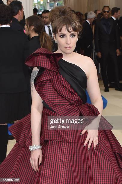 Lena Dunham attends the 'Rei Kawakubo/Comme des Garcons Art Of The InBetween' Costume Institute Gala at Metropolitan Museum of Art on May 1 2017 in...