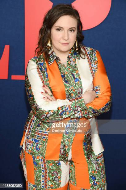 """Lena Dunham attends the """"Veep"""" Season 7 premiere at Alice Tully Hall, Lincoln Center on March 26, 2019 in New York City."""