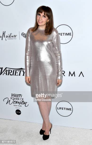 Lena Dunham attends Variety's Power Of Women: New York at Cipriani Midtown on April 21, 2017 in New York City.