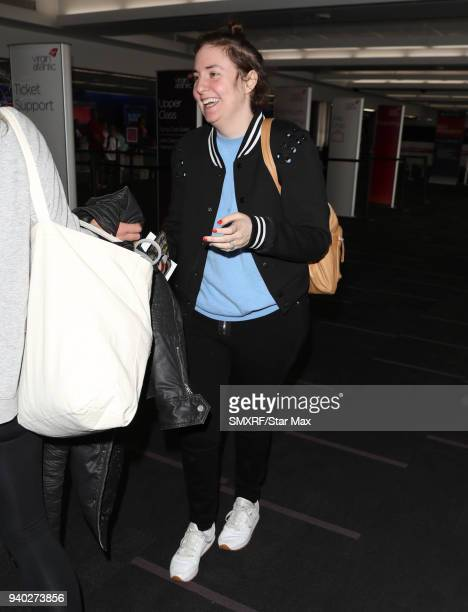 Lena Dunham is seen on March 30 2018 in Los Angeles CA