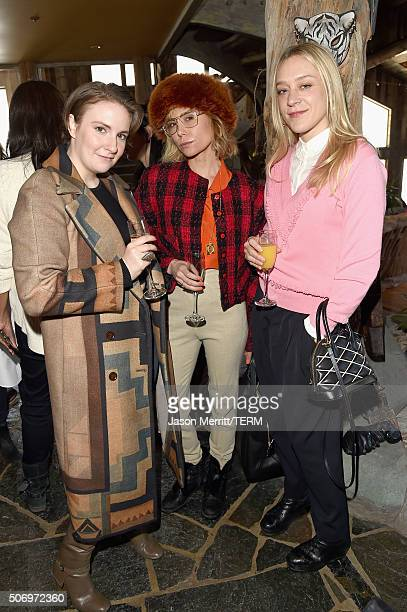 Lena Dunham Lily Baldwin and Chloe Sevigny attend Glamour's Women Rewriting Hollywood Lunch at Sundance Hosted By Lena Dunham Jenni Konner and Cindi...