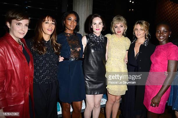 Lena Dunham Rashida Jones Gabrielle Union Michelle Dockery Imogen Poots Dianna Agron and Lupita Nyong'o attend the Miu Miu show as part of the Paris...