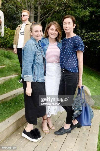 Lena Dunham Sasha Alexander and Julianne Nicholson attend the annual HEART Brunch featuring Stella McCartney on April 18 2017 in Los Angeles...