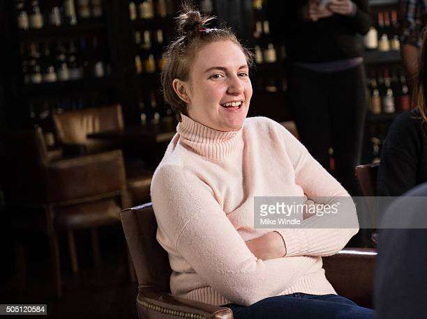 Lena Dunham sits down with LinkedIn Executive Editor Dan Roth on December 12 2015 in Los Angeles California