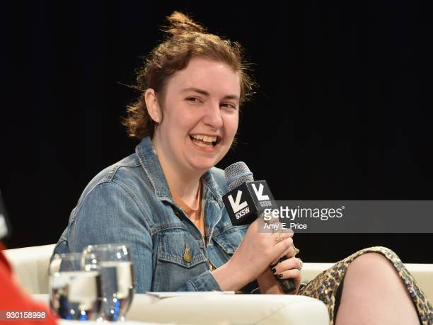 Lena Dunham speaks onstage at Authenticity and Media in 2018 during SXSW at Austin Convention Center on March 10 2018 in Austin Texas