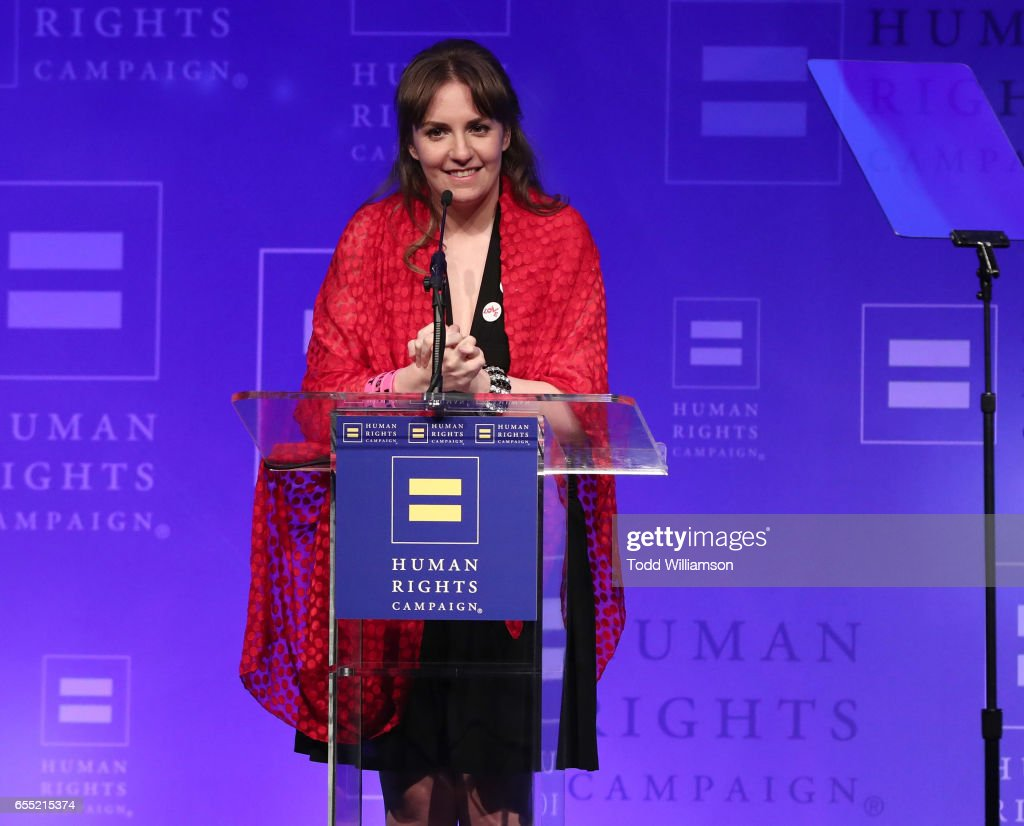 Lena Dunham speaks onstage at the Human Rights Campaign's 2017 Los Angeles Gala Dinner at JW Marriott Los Angeles at L.A. LIVE on March 18, 2017 in Los Angeles, California.