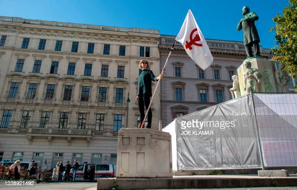 """Lena Floerl a member of a prominent feminist organisation , is taking part in a so-called """"vigil of shame"""" in Vienna, Austria on October 6 to prevent..."""