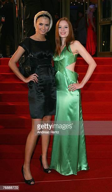 Lena Gercke and Barbara Meier attend the Goldene Henne award at the Friedrichstadtpalast on September 19 2007 in Berlin Germany