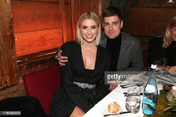 Lena Gercke and Dustin Schoene at the Lena Gercke x ABOUT YOU Christmas Dinner and Party at Hotel Stanglwirt on November 28 2019 in Going near...