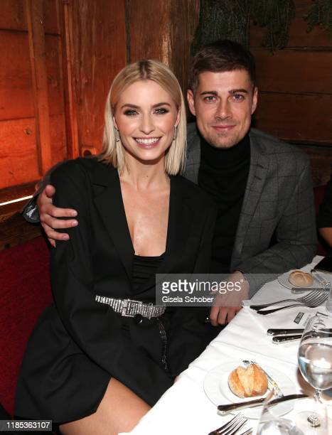 Lena Gercke and her boyfriend Dustin Schoene at the Lena Gercke x ABOUT YOU Christmas Dinner and Party at Hotel Stanglwirt on November 28 2019 in...