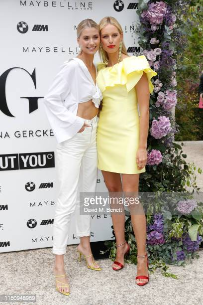 Lena Gercke and Karolína Kurková attend the Wellbeing Summer Lunch featuring a preview of the new Spring/Summer collection from LeGer by Lena Gercke...