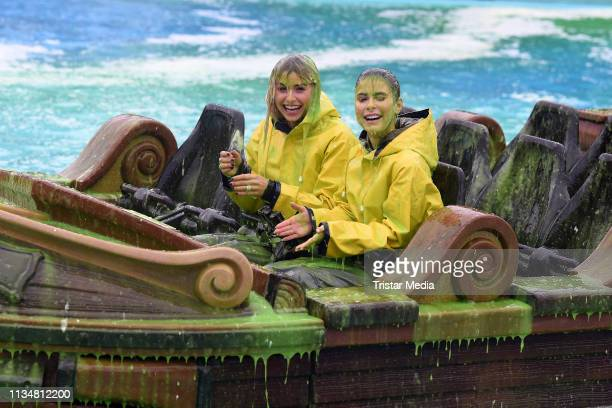 Lena Gercke and Lena MeyerLandrut attend the Nickelodeon Kids Choice Awards at EuropaPark on April 4 2019 in Rust Germany