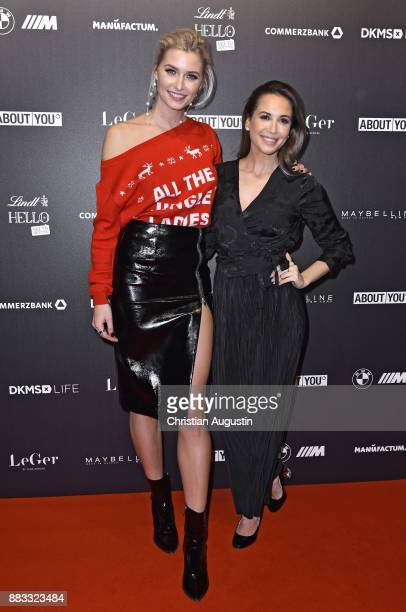 Lena Gercke and Mandy Grace Capristo attend the Christmas Dinner Party of Lena Gercke at the Bar Hygge on November 30 2017 in Hamburg Germany