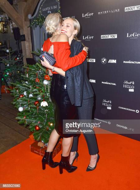 Lena Gercke and Marlies Pfeifhofer attend the Christmas Dinner Party of Lena Gercke at the Bar Hygge on November 30 2017 in Hamburg Germany
