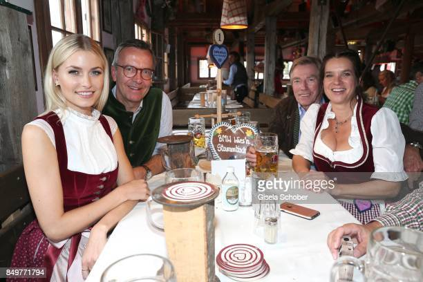 Lena Gercke and Maximilian Schoeberl BMW Group Director Corporate Affairs Prince Leopold 'Poldi' von Bayern and Katarina Witt during the 'BMW Wies'n...