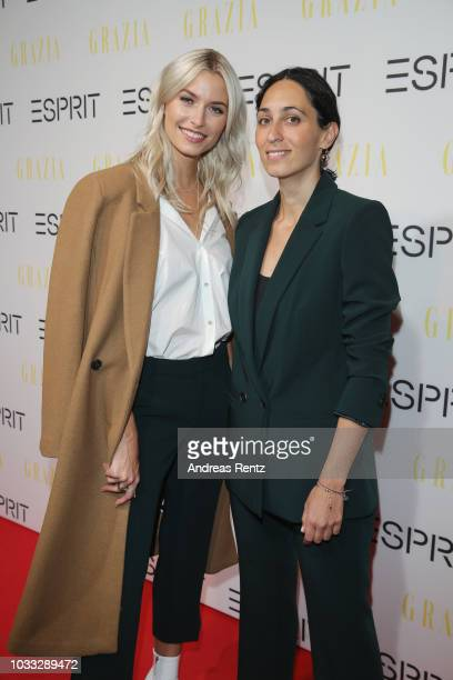 Lena Gercke and Miriam Amro attend #LenaForEsprit Collection Launch Grazia x Esprit on September 14 2018 in Duesseldorf Germany
