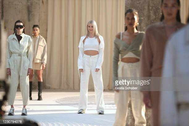 Lena Gercke and models walk the runway during the About You Fashion Week, AYFW, LeGer by LenaGercke show production at Kraftwerk on January 24, 2021...