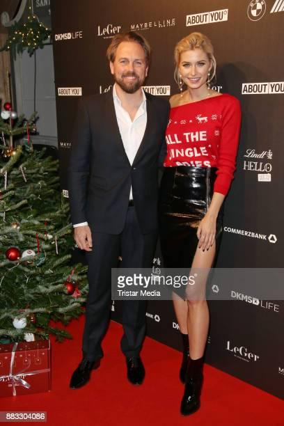 Lena Gercke and Steven Gaetjen during Lena Gerckes Christmas Dinner Partyat Hygge on November 30, 2017 in Hamburg, Germany.