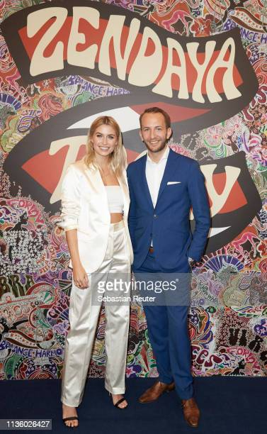 Lena Gercke and Timo Weber of KaDeWe pose during the 'TommyxZendaya' meet greet event at KaDeWe on March 15 2019 in Berlin Germany