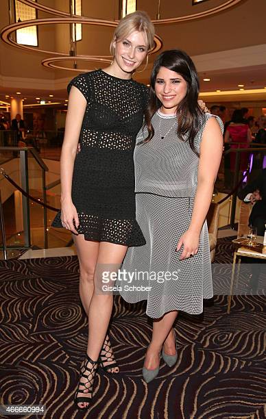 Lena Gercke and Yana Gercke, half sister of Lena Gercke and singer during the PEOPLE Magazine Germany launch party at Waldorf Astoria on March 17,...
