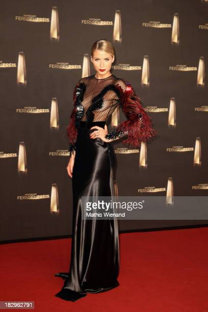 Lena Gercke arrives at the red carpet of the 'Deutscher Fernsehpreis 2013' at Coloneum on October 2 2013 in Cologne Germany