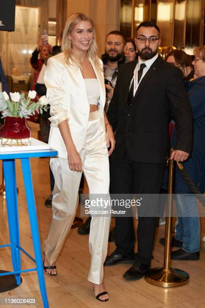 Lena Gercke arrives at the 'TommyxZendaya' meet greet event at KaDeWe on March 15 2019 in Berlin Germany
